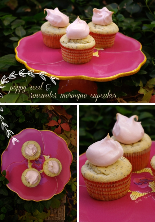 poppyseed rosewater cupcakes