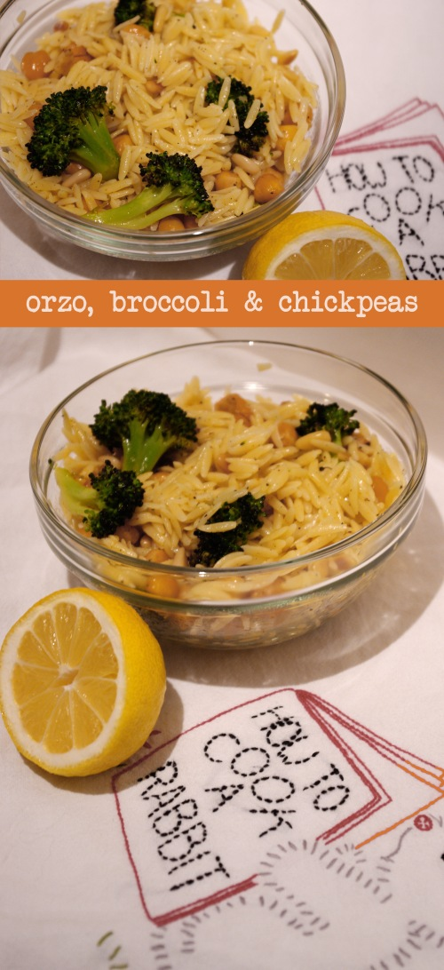 orzo broccoli chickpeas