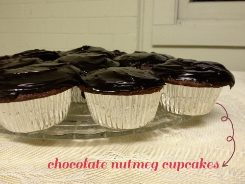 Chocolate Nutmeg Cupcakes