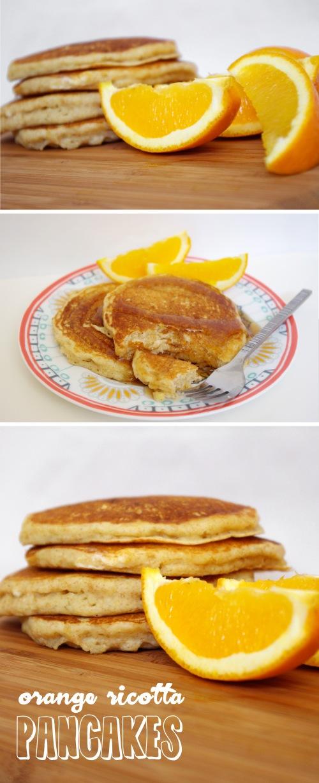 orange ricotta pancakes