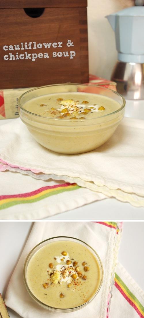 Cauliflower Chickpea Soup