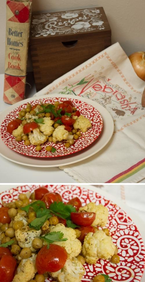 cauliflower chickpea roast