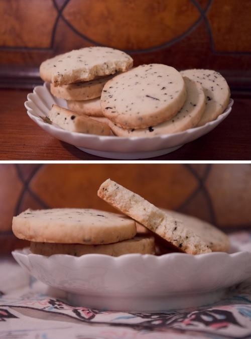 Thai Tea Shortbread cookies