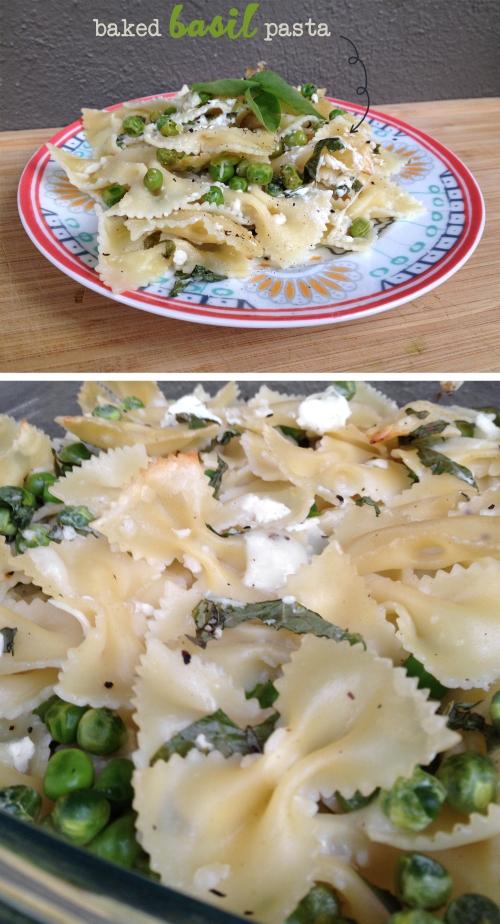baked basil pasta