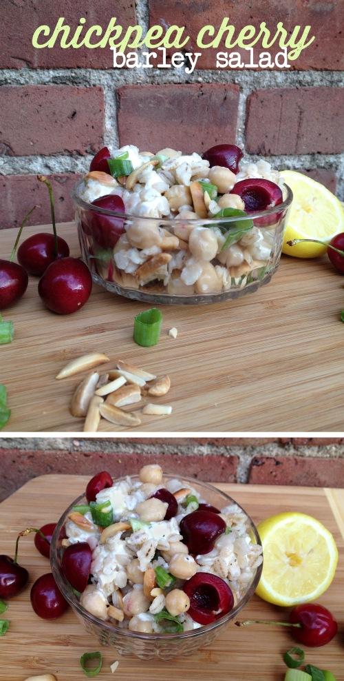 chickpea cherry barley salad