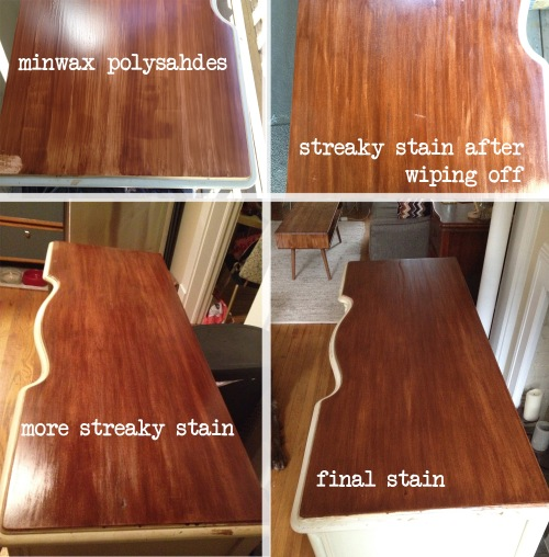 desk refinish stain