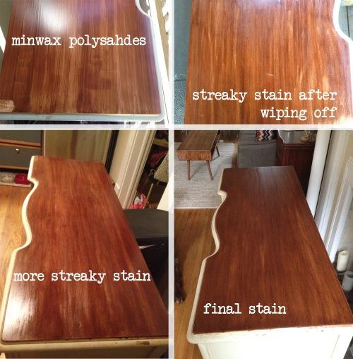 desk refinish stain