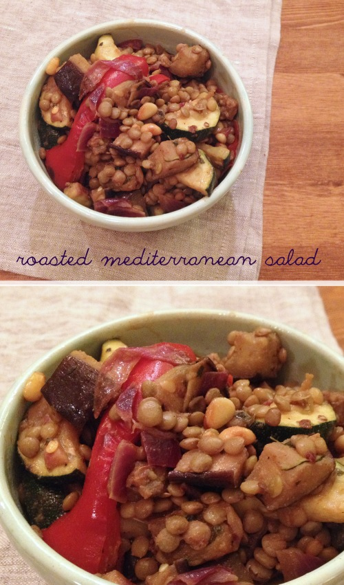 roasted mediterranean salad