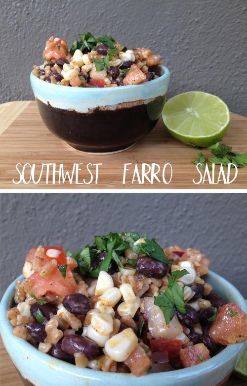southwest farro salad